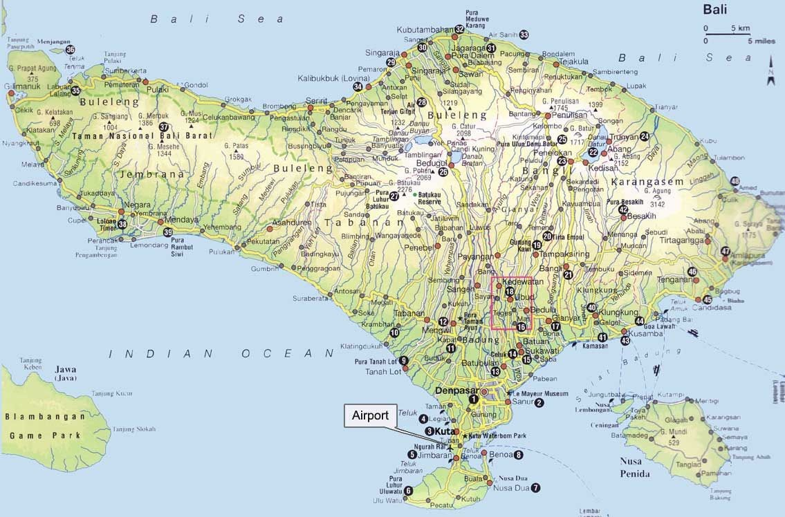 7 Bali Maps Bali On A Map By Regions Tourist Map And More