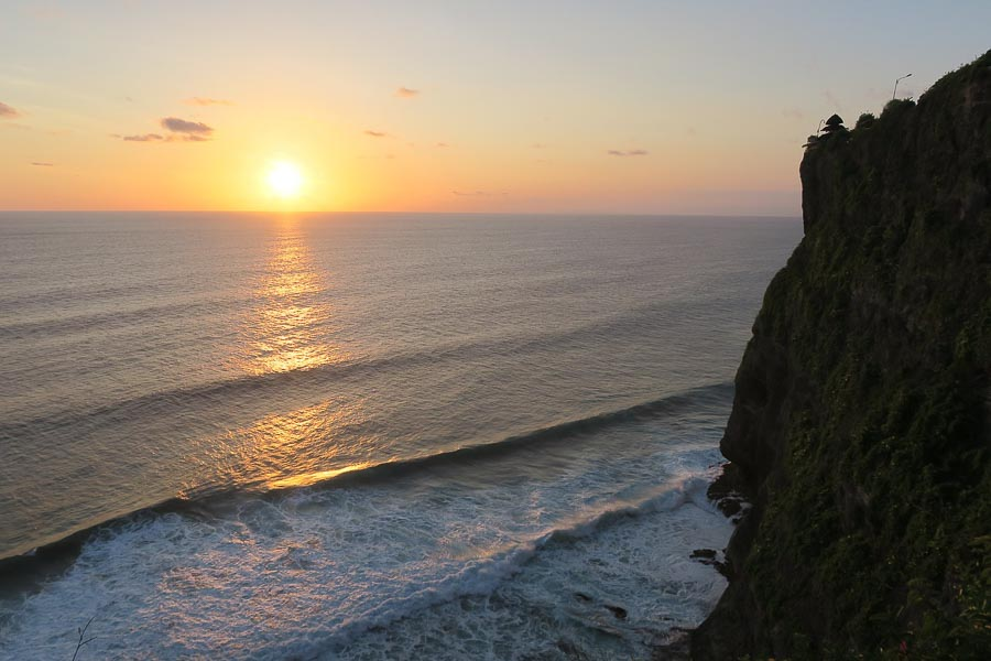 Uluwatu is a temple at a cliff sunset bali in a week itinerary