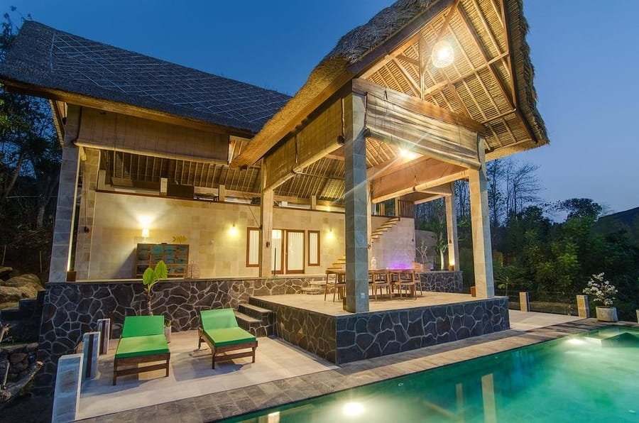 sanglung villas bali terrace and private pool