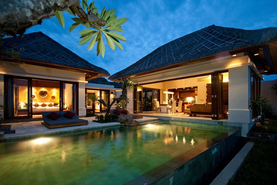 The Griya Villas and Spa Bali piscina privada