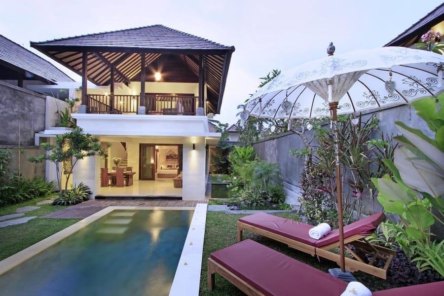 private villa in Bali where to stay for honeymoon