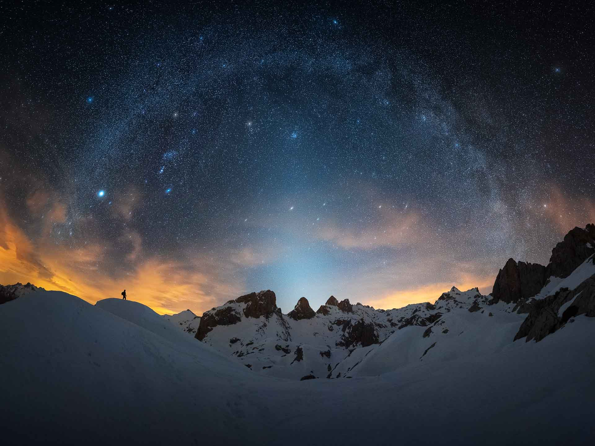 Milky Way Spain Picos de Europa zodiacal light Orion arm
