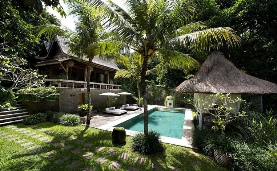 Piscina infinita en Bali alojamientos