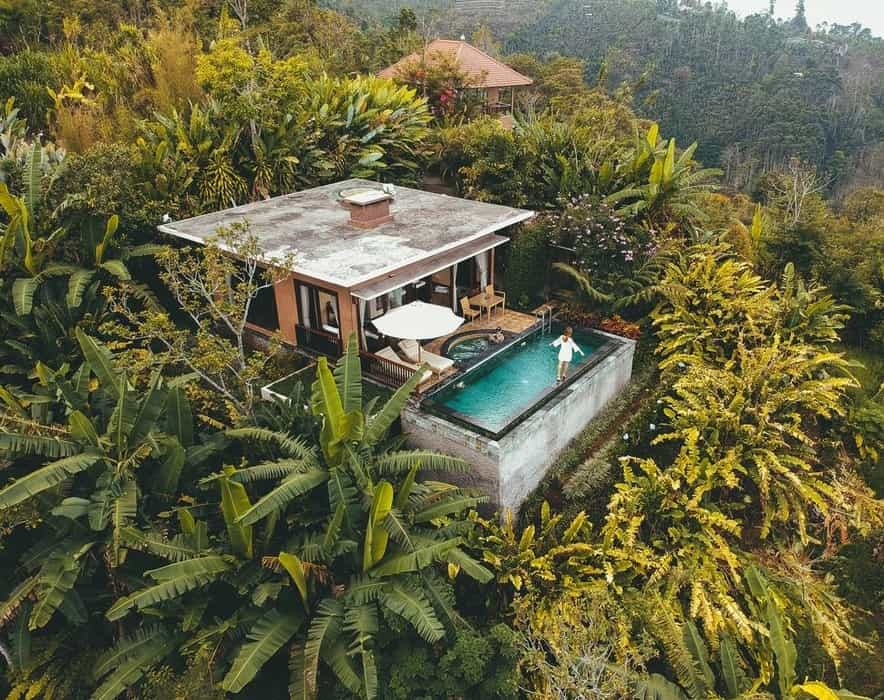 hotel on the midle of the jungle in bali