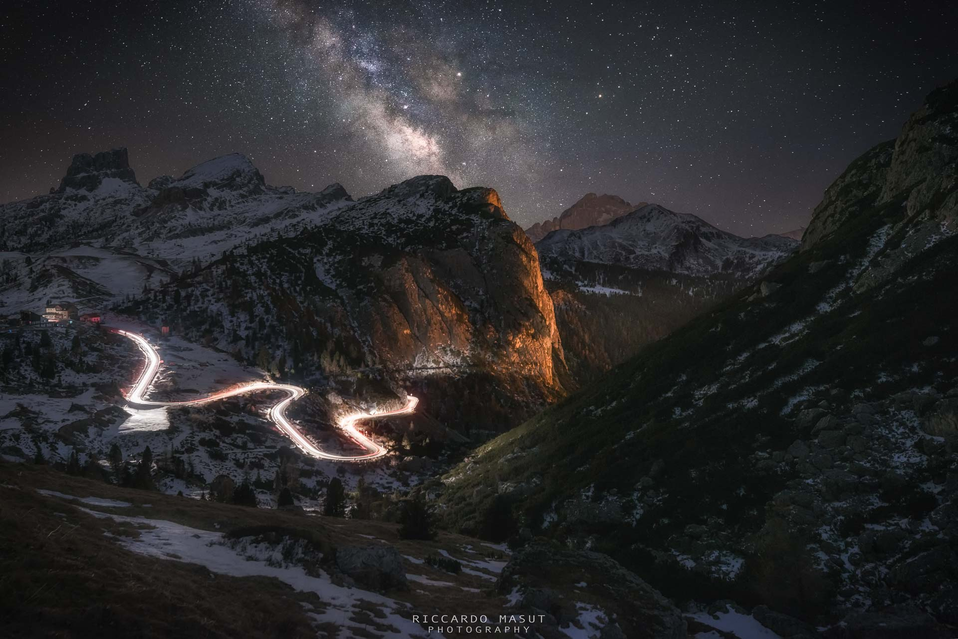 Milky Way Dolomites and mountains best images