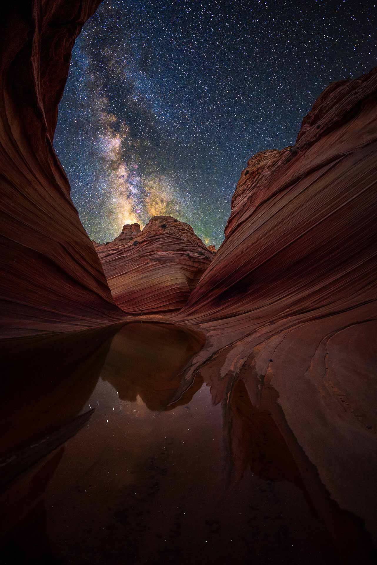 Milky Way at The wave Coyote Butt Arizona USA