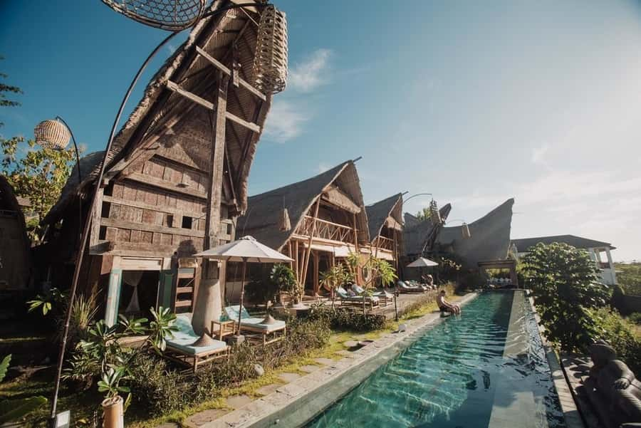 The most luxurious hotels in Bali Toroja Bambu, an essential place to stay in Bali