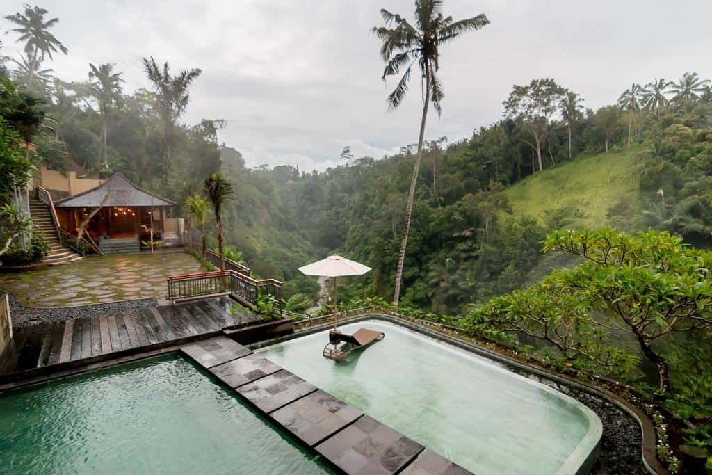 private pool in bali jungle