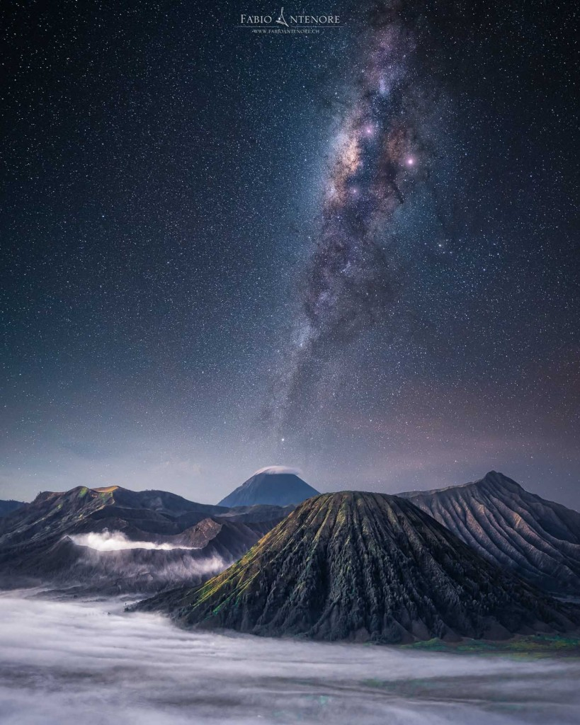 """Milky Way over Bromo"" – Fabio Antenore"