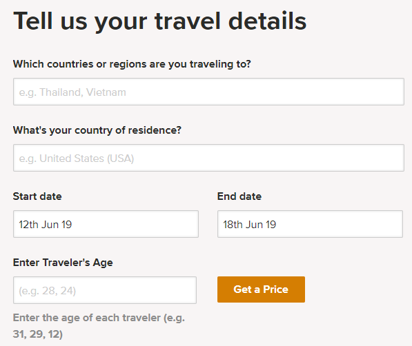 World nomads travel insurance for europe form