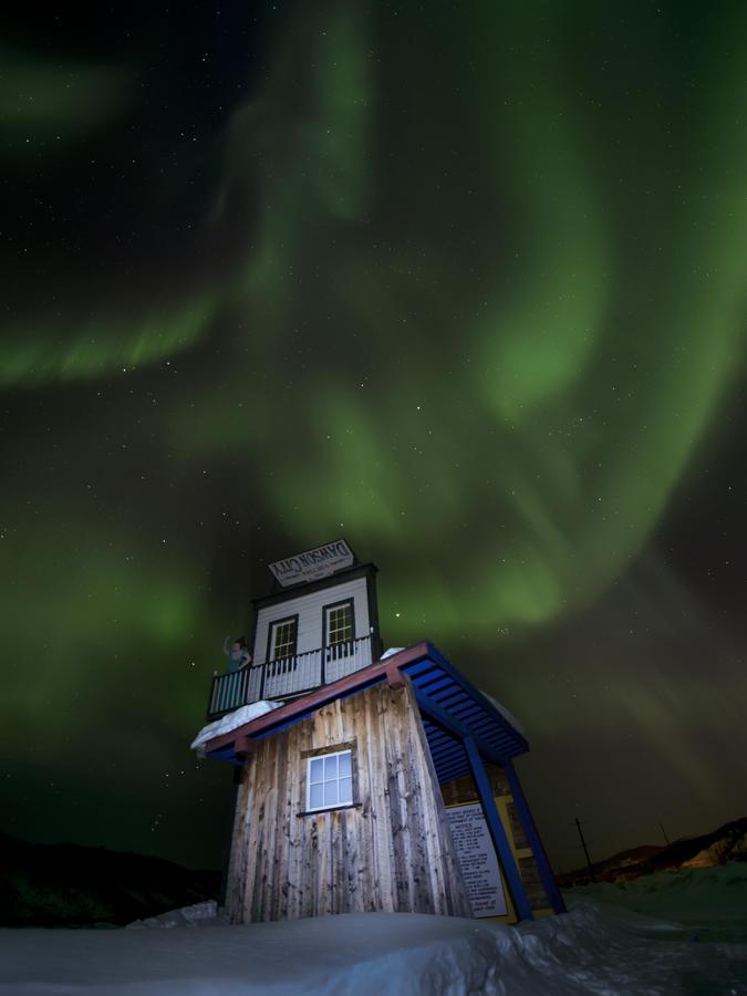 best Northern Lights accommodation Dawson City