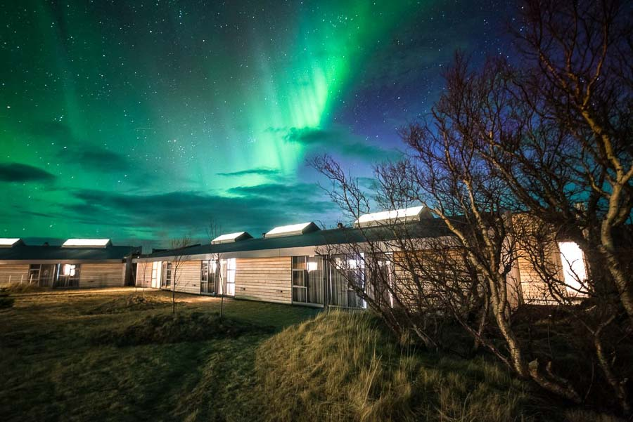 How to see the Northern lights in Iceland accommodation
