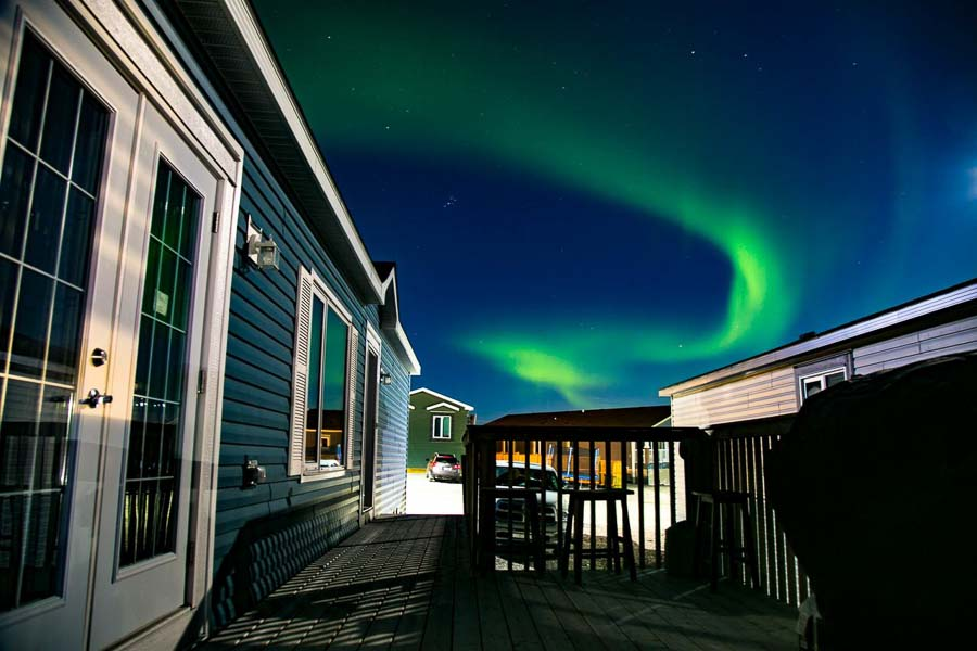 best place to stay and see northern lights in Canada