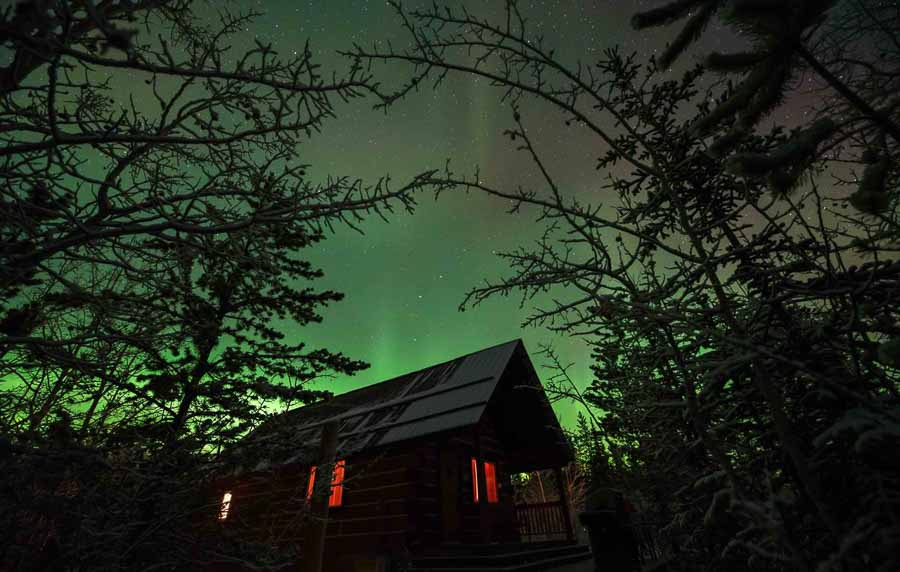 how to see northern lights in canada hotel