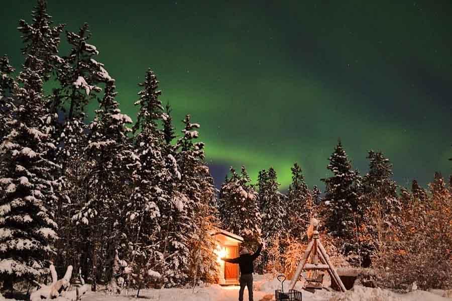 Mejor época para ver Auroras boreales en Canadá