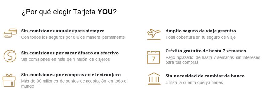 ventajas en las comisiones de la tarjeta you de advanzia