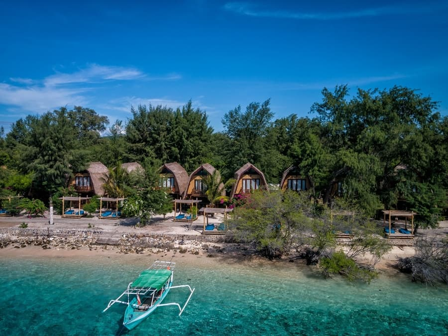 best hotels in gili islands