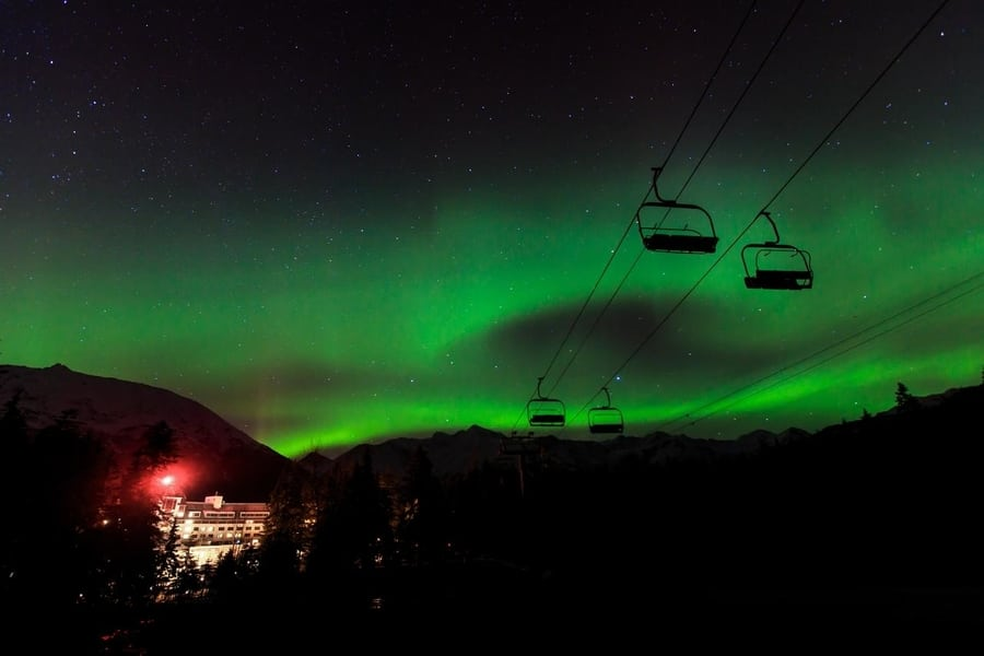 Mejor hotel esquí Auroras Boreales
