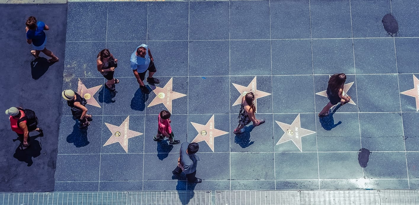 Hollywood Walk of Fame, the main attraction of Los Angeles