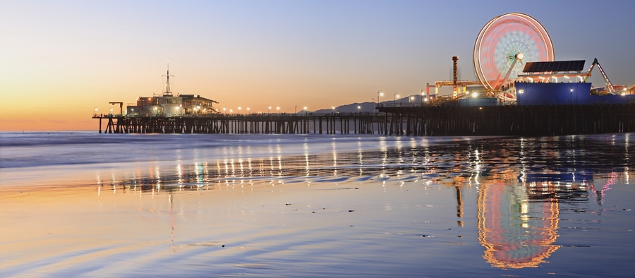 Santa Monica, a great beach to go in Los Angeles