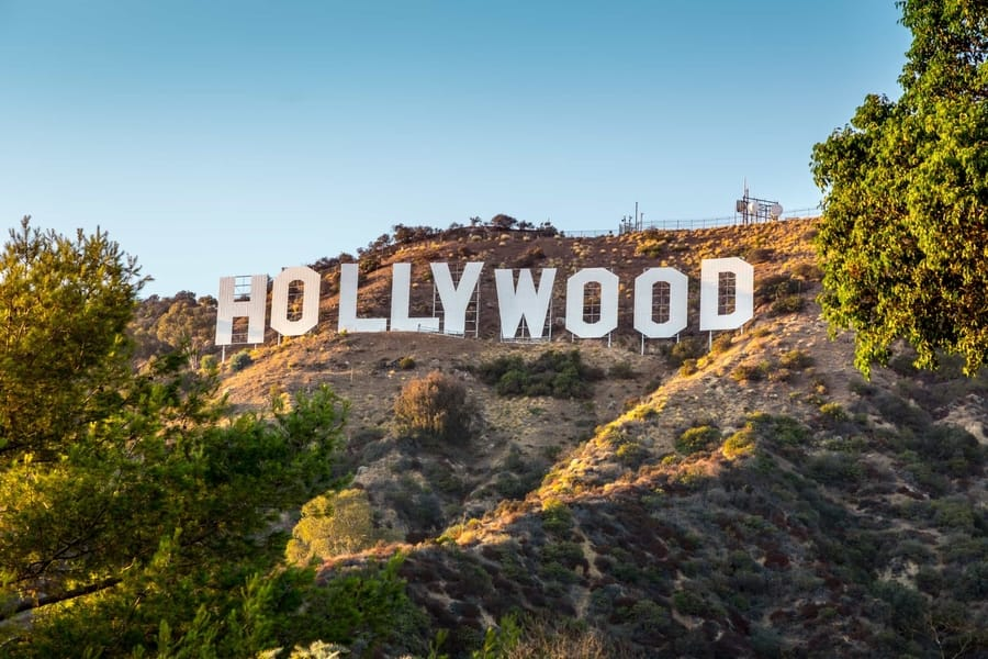 Hollywood Sign, one of the most famous places in Los Angeles