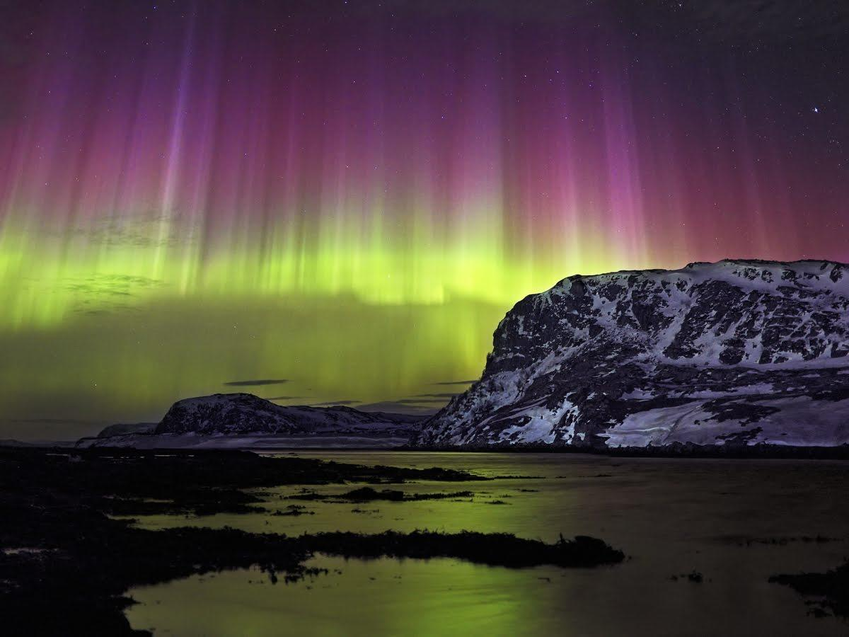 Donde ver auroras boreales en Rusia