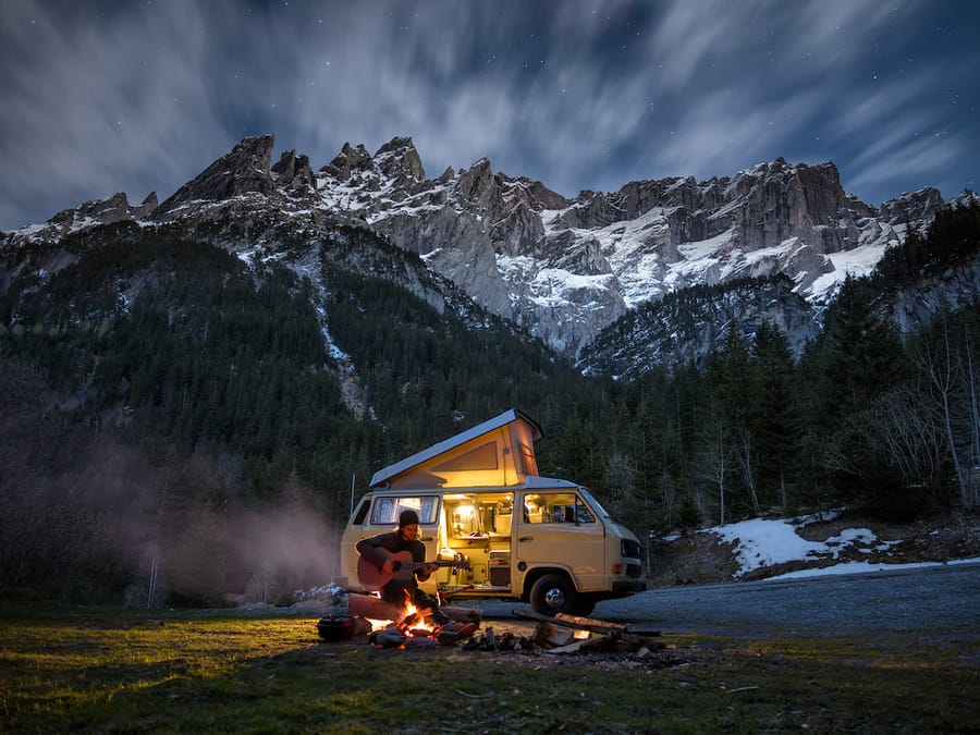 Campervan for save money in travels