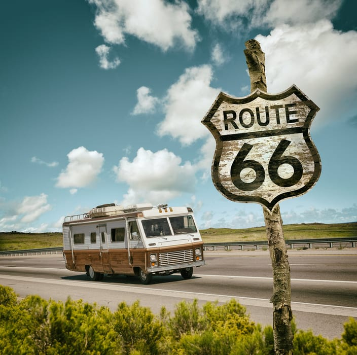 route 66 by rv rented in the usa los angeles chicago