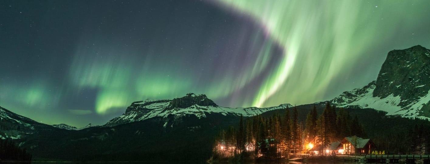 predecir auroras boreales Northern Lights Yoho Canada