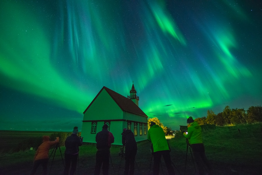 It is possible to see the Aurora during solar minimum