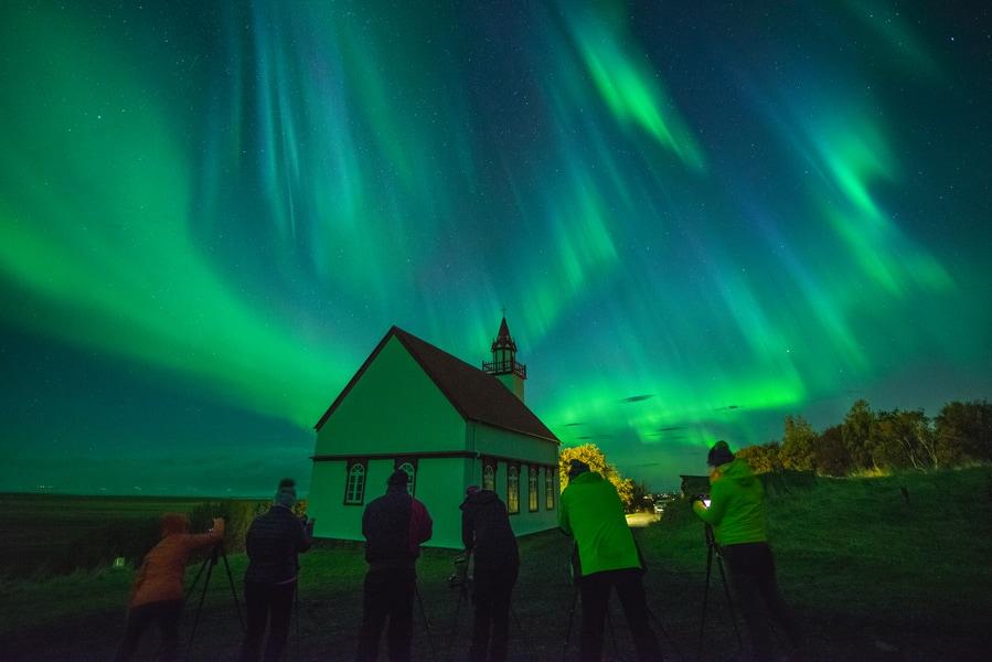 Northern Lights group tour in Reykjavik Iceland