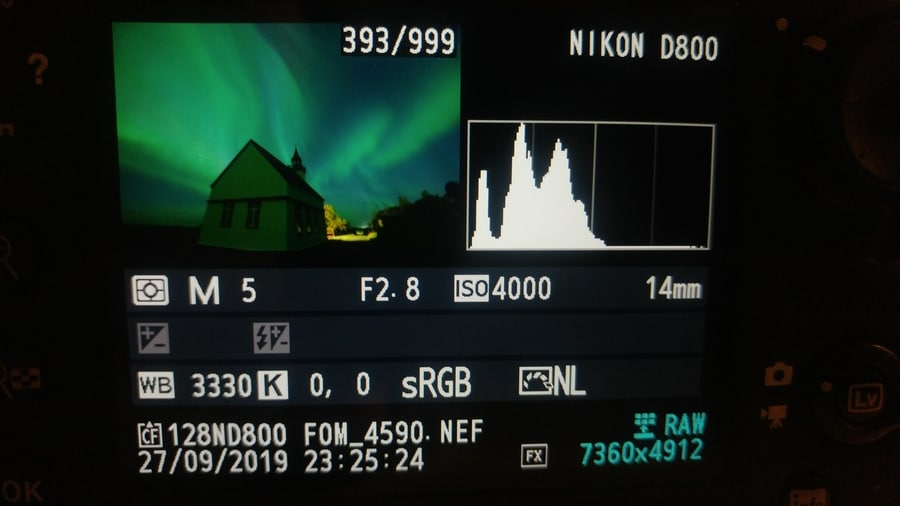 how to see the histogram in your camera before taking a photo