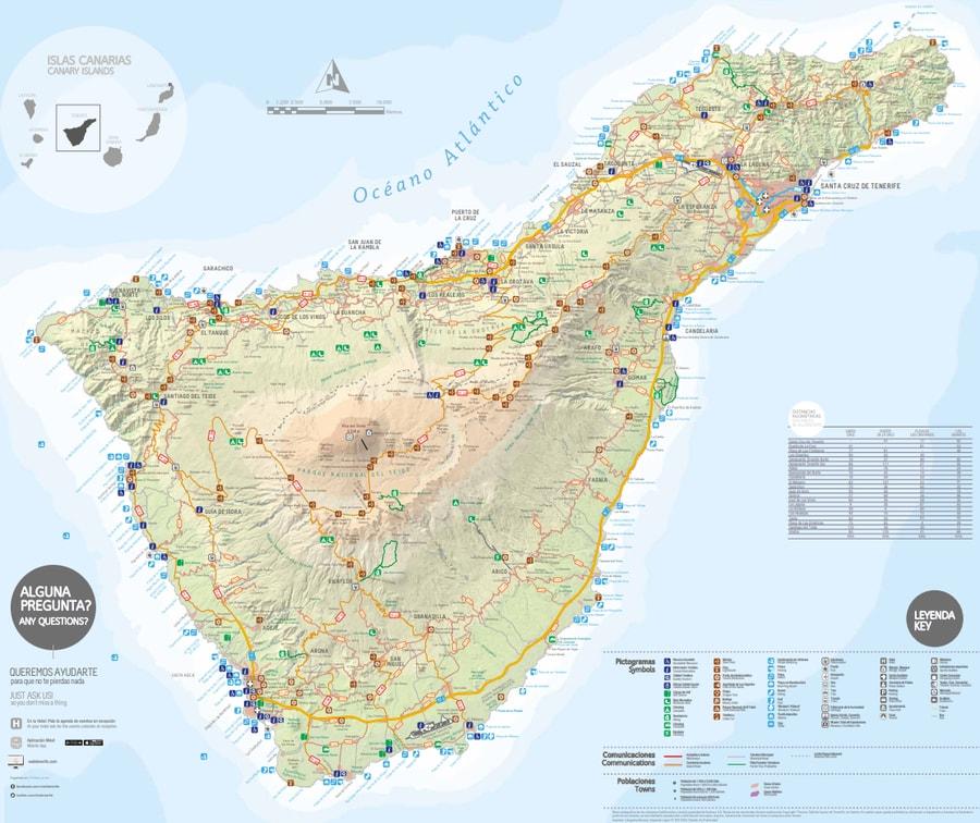 high-resolution tenerife map