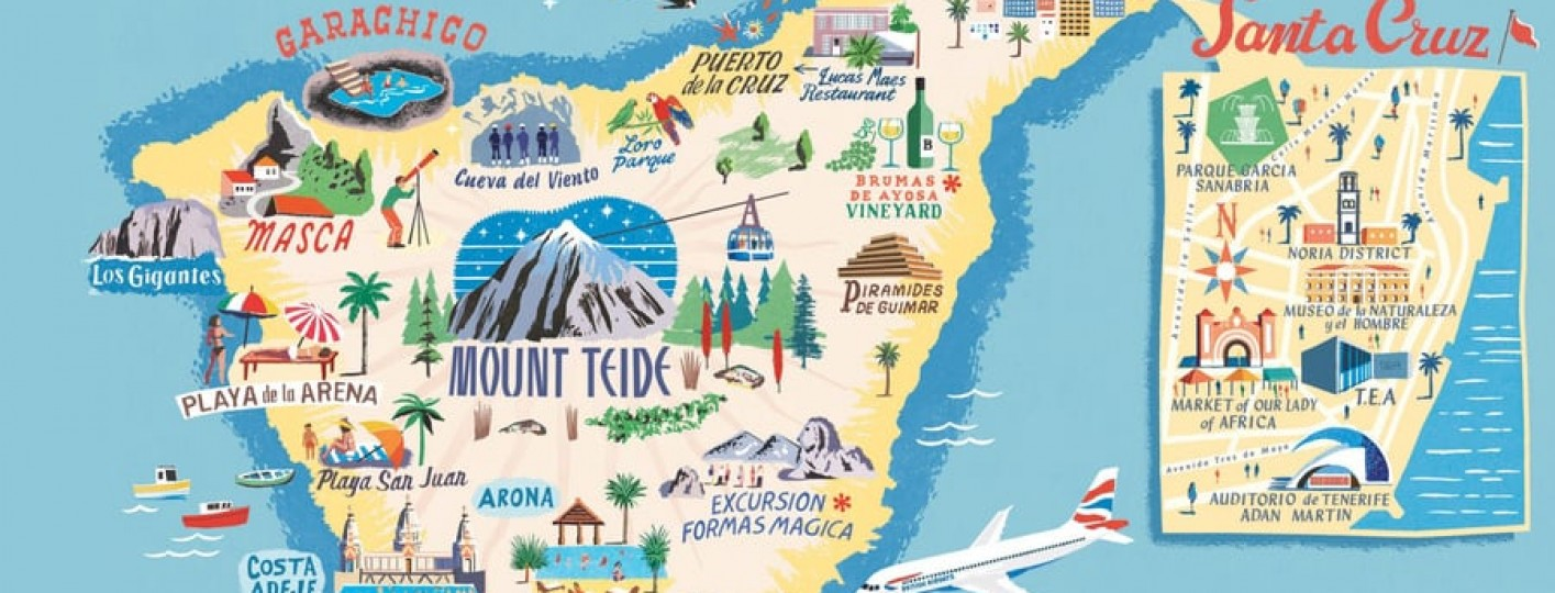 mapa turistico de tenerife para viajar