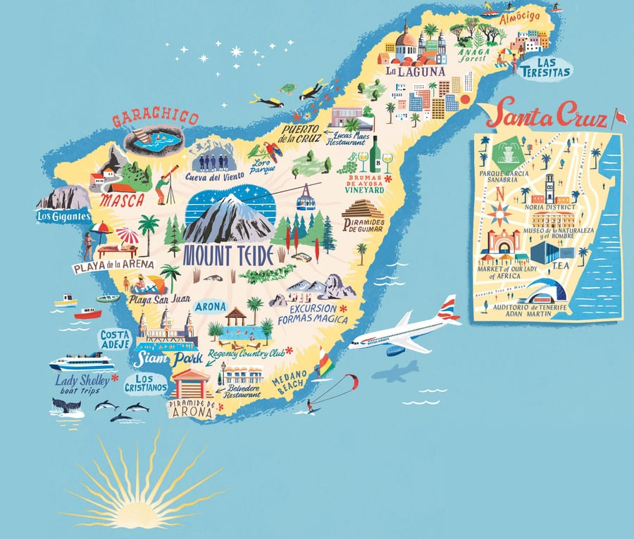 tourist map of tenerife best attractions