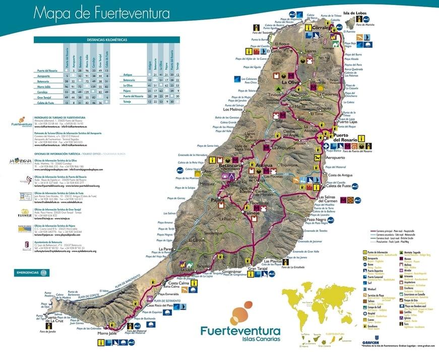 Fuerteventura road map