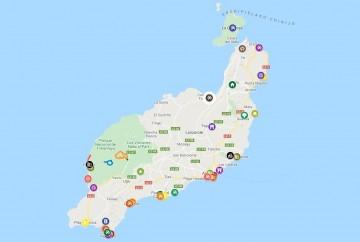 mapa de lanzarote islas canarias