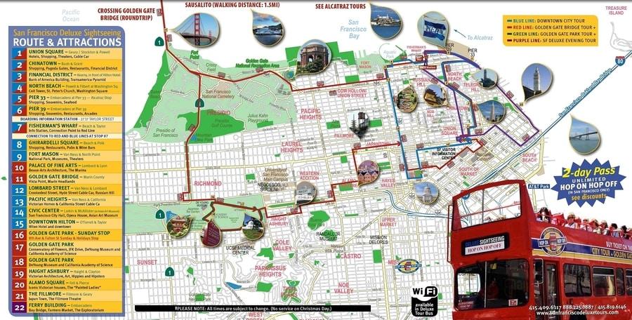 Mapa turístico de San Francisco
