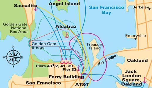 Mapa de la línea ferry de San Francisco