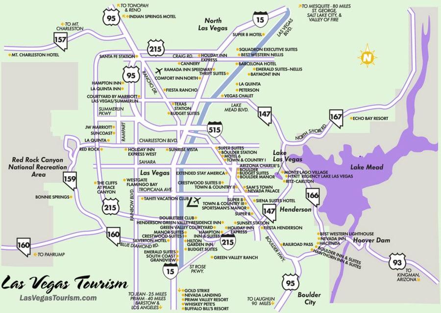 Mapa de las calles de Las Vegas