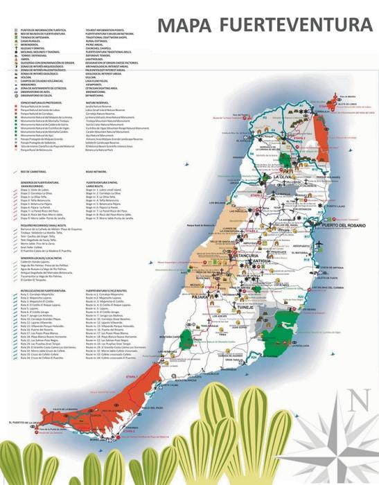 High-resolution Fuerteventura map