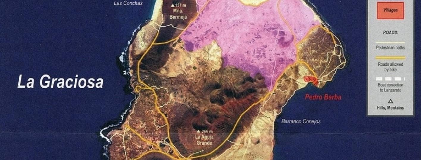 mapa de la graciosa islas canarias