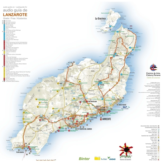 High-resolution Lanzarote map