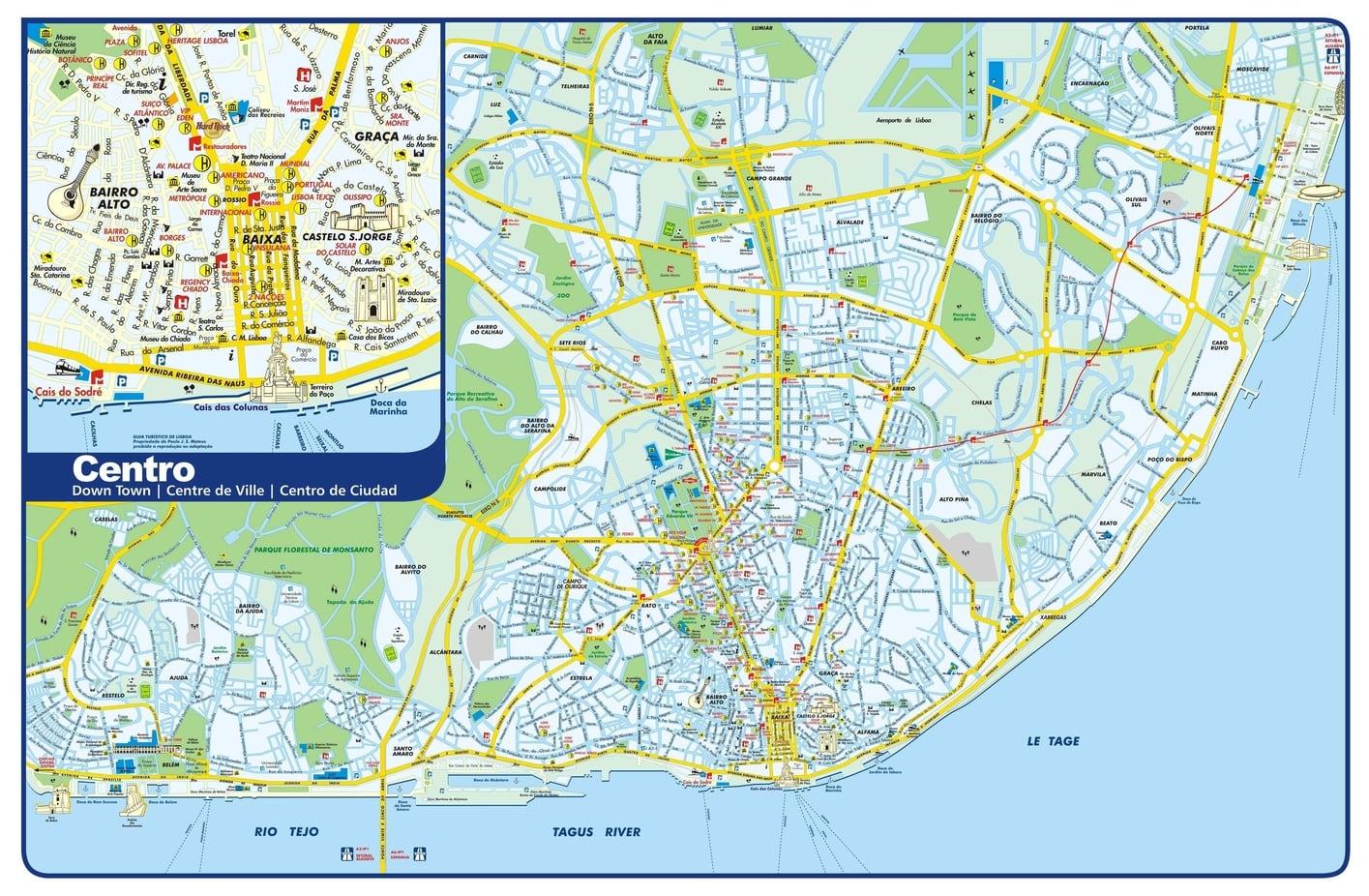 Lisbon Maps The Tourist Maps Of Lisbon To Plan Your Trip