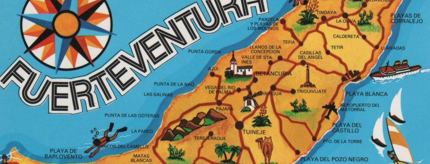 fuerteventura canary islands map spain