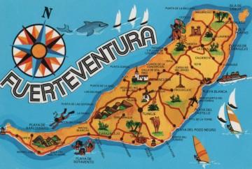 mapa de fuerteventura islas canarias españa