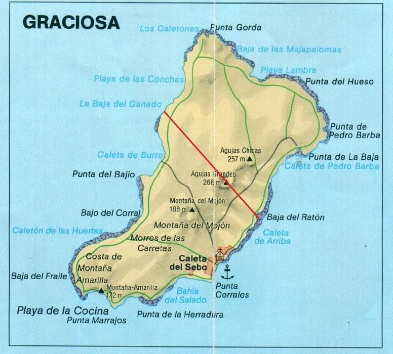 Mapa turístico de La Graciosa Lanzarote