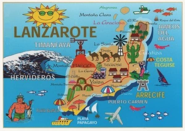 Mapa turístico de Lanzarote
