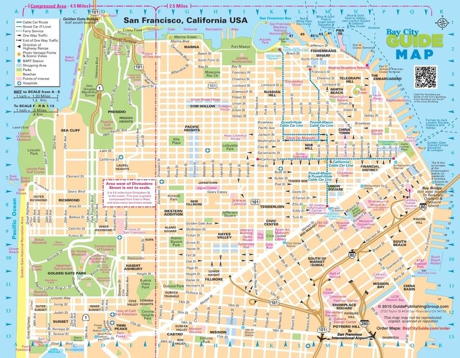 Mapa de las calles de San Francisco