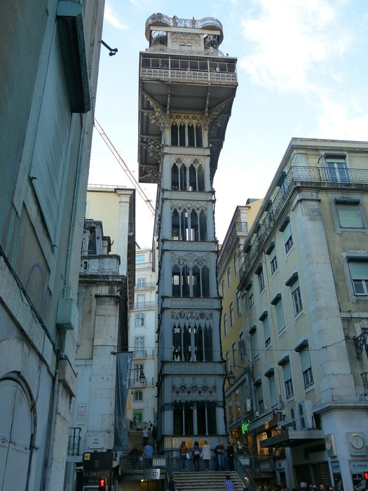 Santa Justa Elevator, one of the best lookouts in Lisbon